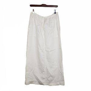 Telluride Clothing Co. Linen Maxi Skirt White 8